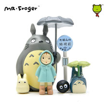 Mr.Froger My Neighbor Totoro Miniature Figurines Resin Mini Cute Toy Set Anime Totoro Garden Statue Figure Animation Decoration