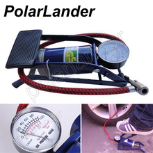 Car inflator air compressor Car-styling Foot Air Pump 100PSI Car Vehicle Tires Bicycle Bike Motorbike Ball Inflator(China)
