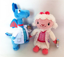 New Doc McStuffins Hospital Lambie Sheep Stuffy Dragon Plush For Girls 20cm Kids Stuffed Animals Toys Children Christmas Gifts(China)