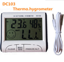 New digital Thermometer Hygrometer Indoor outdoor temperature humidity meter Weather Station Max/Min temperature memory function