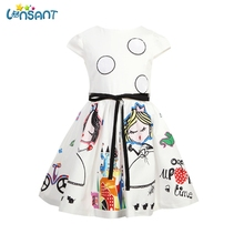 LONSANT Summer Dress Robe Fille Princess Wedding Dresses Vestidos Infantil Mujer Little Girls Evening Gowns 1-7Y Dropshipping(China)