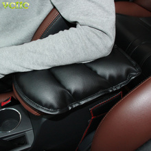 Car Armrests Cover Pad Vehicle Center Console Arm Rest Seat Pad For Ford Focus 2 3 Peugeot 206 207 307 308 407 408 508 2008 3008(China)