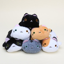 100pcs Kawaii 6 Styles Big Face Cat Plush Pencil Box Kutusita Nyanko plush & stuffed pencil bag 23cm Long