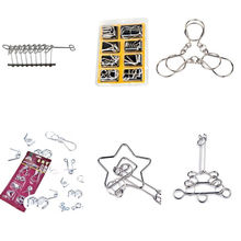 7 Sets/Pack Brain Teaser Metal Wire Puzzle Ring IQ Test Mind Game Child Trick Toy For Kids