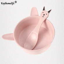 Keythemelife Children Baby Bowl Cartoon kids Food Container Ear Style fruit Snack Children Feeding Bowl CF