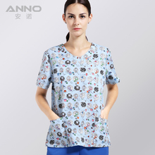 2017 medical nurses clothings for Coloured fabric with comfortable medical uniform in scrubs set surgical suit(China)