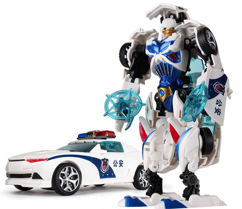 4766522982_292228750 (1Big Classic Transformation Plastic Robot Cars Action 18.5 cm