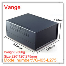 1pcs/lot high quality baking varnish surface iron diy enclosure box with ABS plastic panels for control device 220*120*275mm(China)