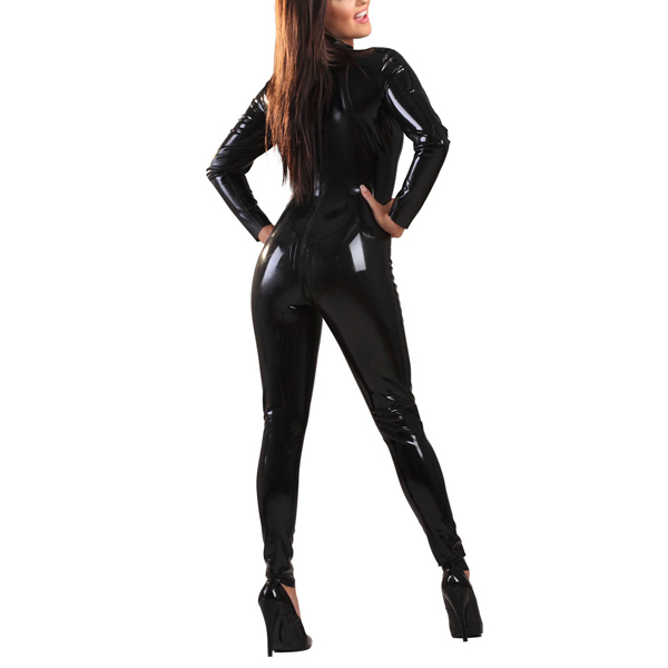 Latex Rubber Back-Zip Catsuit a