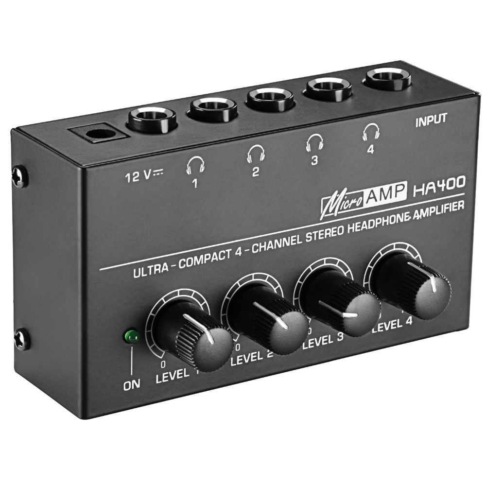 Mosky 4-Channel Stereo Headphone Amplifier with Ultra Low Noise, Premium Sonic Quality and Wide Frequency Response<br>