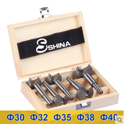 5Pcs Long Plates Woodworking Hole Saw Tungsten Carbide Drill Bits Cutting 30mm 32mm 35mm 38mm 40mm (KKQ-P30-40)<br>