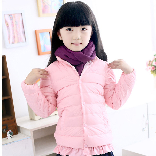 2017 NEW ARRIVAL girls white duck down coat solid color Childrens winter outerwear 3 colors drop shipping, C185Одежда и ак�е��уары<br><br><br>Aliexpress
