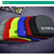 2017 New Winter Hats For Women Men Skullies Beanies Bad Hair Day Embroidery Warm Knitted Hat Female Fashion Headgear Wholesale