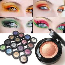 16 Colors Powder Pigment Glitter Eyeshadow Mineral Spangle Eye Makeup Shimmer Cosmetic Long-lasting Eye shadow Y4