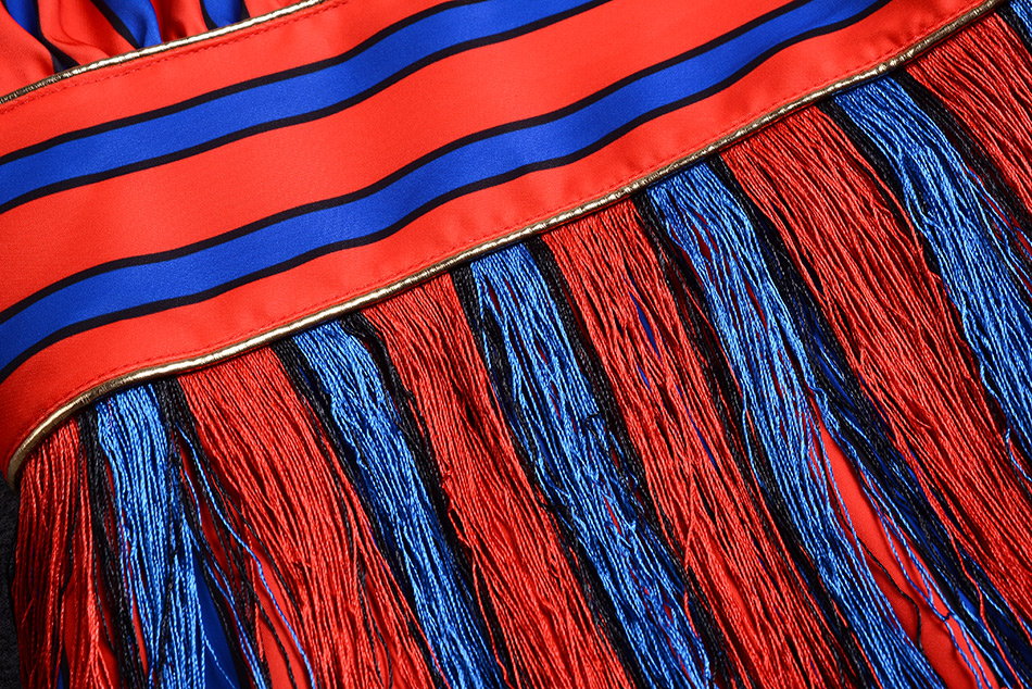Seamyla-New-Fashion-2017-Star-Style-Runway-Designer-Dress-Women-Luxurious-Colorful-Striped-Tassel-Evening-Party-Dress7