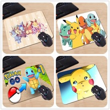 Funny Cute Cartoon Pokemon Eeveelution Personalized Mouse Pad  Laptop PC Computer Rectangle Silicone Durable Gaming Mouse Pad