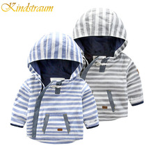 Kindstraum 2017 Spring Autumn Kids Boy Coat Brand Cotton Jacket Hooded Windbreaker Outerwear Striped Casual Child Clothing,MC362