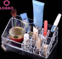 China Brand LOAAO crystal make up cosmetic organizer storage case box Container/bathroom organizer/jewelry organizer case box