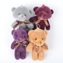 4PC Valentine Color Mini Bear 12CM Plush Toys Soft Toy Stuffed Animals Kids Pendant Charm Toy Key Chain Children Gifts giocatto