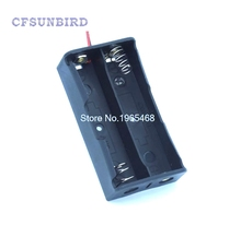 "10pcs J35 Free Shipping New Black Plastic Storage Box Case Holder For Battery 18650 With 6"" Wire Leads 2"