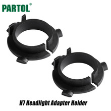 Partol H7 LED Kit Headlights Bulbs Base Holders Adapter Car LED Clip Retainer Sockets Adaptor for Kia Hyundai Lamando New Touran(China)