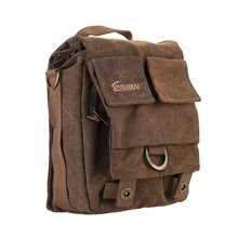 Eirmai SS05(S) Small Size Single  video camera Shoulder Bag Handbag Leisure Canvas Camera Messenger Bag Coffee Color