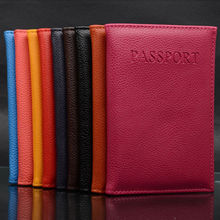 High Quality New Leather Women Passport Holder Couple Models Women's Travel Passport Cover Unisex Card Case Man Card Holder