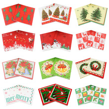 [RainLoong] Santa Decorative Paper Napkins Snowman For Christmas Decoration Guardanapo 33*33cm 20pcs/pack(China)