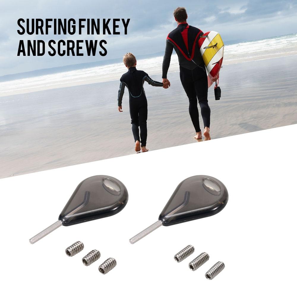 3pcs pinna in acciaio inox e piastra set strumento per tavola da surf sup