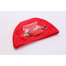 DISNEY Cars Children Cartoon Swimming Cap Water Sports Swimming Cap for kids(China)
