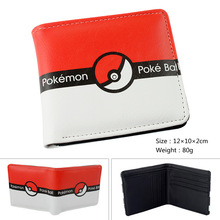 Cospaly Cartoon Wallets Pokemon Pocket Monster Poke Ball Wallet Billfold Short PU Leather Purse Slim Money Bag Student Wallets(China)