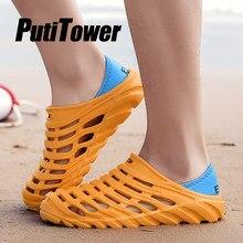 ff81788fc Light Men Sandal Summer Beach Water Shoes Male Soft Garden Clogs Breathable  Footwear 2019 croc Zapatos