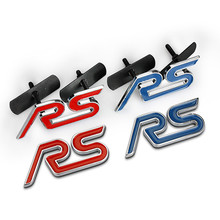 3D Metal RS ST S Grille Car Sticker Chrome Emblem Badge Decals Refitting For Ford Focus 2 3 For Chevrolet Cruze Skoda Hyundai(China)