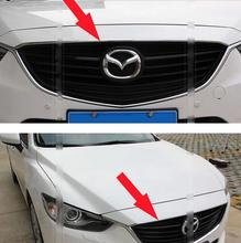 1 PC Chrome ABS front hood Grill cover trim for mazda 6 ATENZA 2014