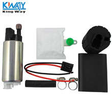 FREE SHIPPING - King Way- Brand New 255LPH High Performance Electric Intank Fuel Pump With Install Kit GSS342(China)