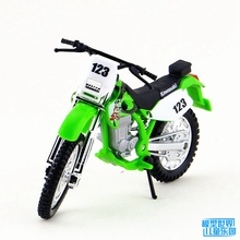 5pcs/lot Wholesale Brand New 1/18 Scale Motorbike Model Toys KAWASAKI KLX250SR Diecast Metal Motorcycle Model Toy