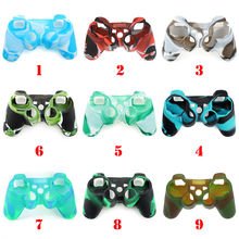 Mix Camo Silicone Gel Rubber Case Skin Grip Cover For PS3 Controller(China)