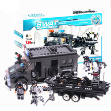 738pcs City Police Series Boat Car Figures Building Blocks Bricks Enlighten Educational Building Blocks Bricks Toys for Children