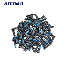 100pcs M2.5*8mm 10mm Small flat philips screws for laptops Tamper-resistant Screw notebook computers Carbon black nickel plating(China)