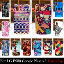 For LG E980 Google Nexus 5 Hard Plastic 4.95 inch Cellphone Mask Case Protective Cover Housing Skin Mask Shipping Free