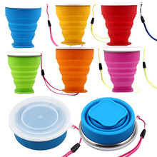 2016 Vogue Outdoor Travel Silicone Retractable Folding Telescopic Collapsible water bottle drop shipping