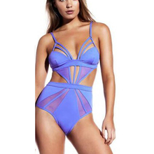 2017 New Sexy Sports Body Swimming Suit for Women Mesh Swimwear Push up One Piece Swimsuit Female Monokini Bathing Suits White