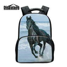 Dispalang  Horse Backpacks for Middle School Students Cool Animal Bagpack for Teenagers Boys Fashion Bookbags Rucksack Mochilas