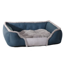 Transer Pet Dog Cat Cloth Bed Puppy Cushion House Soft Warm Kennel Blue Dogs Mat Blanket 18 Dec26 P45(China)