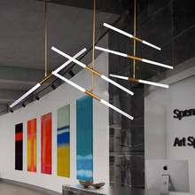 Creative Led Pendant Light modern hangqing 2-30 combination lamps for dining room Fixture hotel lobby front desk suspender