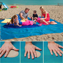 2x2m sand free mat Campingt Mat Outdoor Picnic Mattress camping Beach Mat  HDPE sand free mat beach cushion blue with beach bag