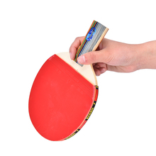 1Pair Double Face Rubber Table Tennis Racket Ping Pong Paddle with 3 Balls - Short Handle