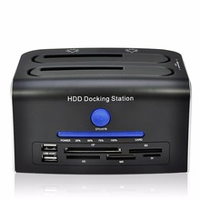 NEW 3.5 / 2.5 inch SATA II III Dual SATA HDD Docking Station dock to 5Gbps usb 3.0 docking station External Hard Drive up to 8TB