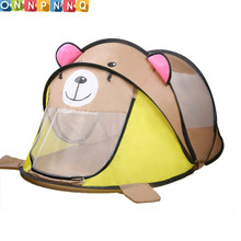 2017 Cartoon Animal Toy Tents Children House Kids For Tent Indoor Outdoor Play Tent Folding Baby Tent Cute Ball Pool Pit(China)