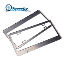 ESPEEDER 2pcs Stainless Steel License Plate Frame Tag Cover Holder For Auto Truck Vehicles Only For American Canada Car